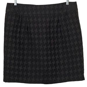 Merona Hounds Tooth Black Pencil Skirt  NWOT 16